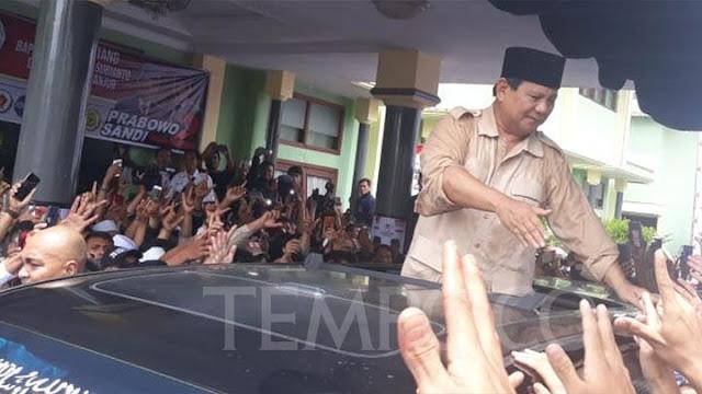 BPN Ungkap Prabowo Menangis Disambut Meriah Warga Cianjur