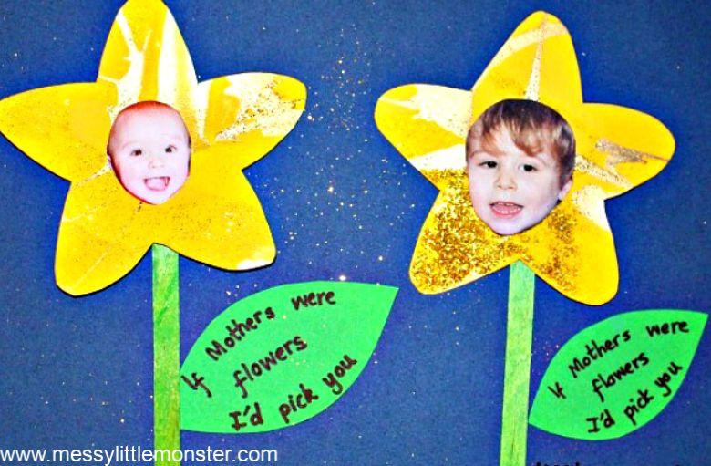 Spring crafts for kids - daffodil spring flowers craft