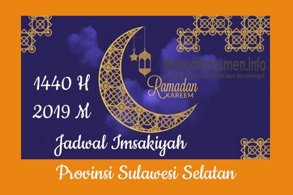 Jadwal Imsakiyah Ramadhan Provinsi Sulawesi Selatan