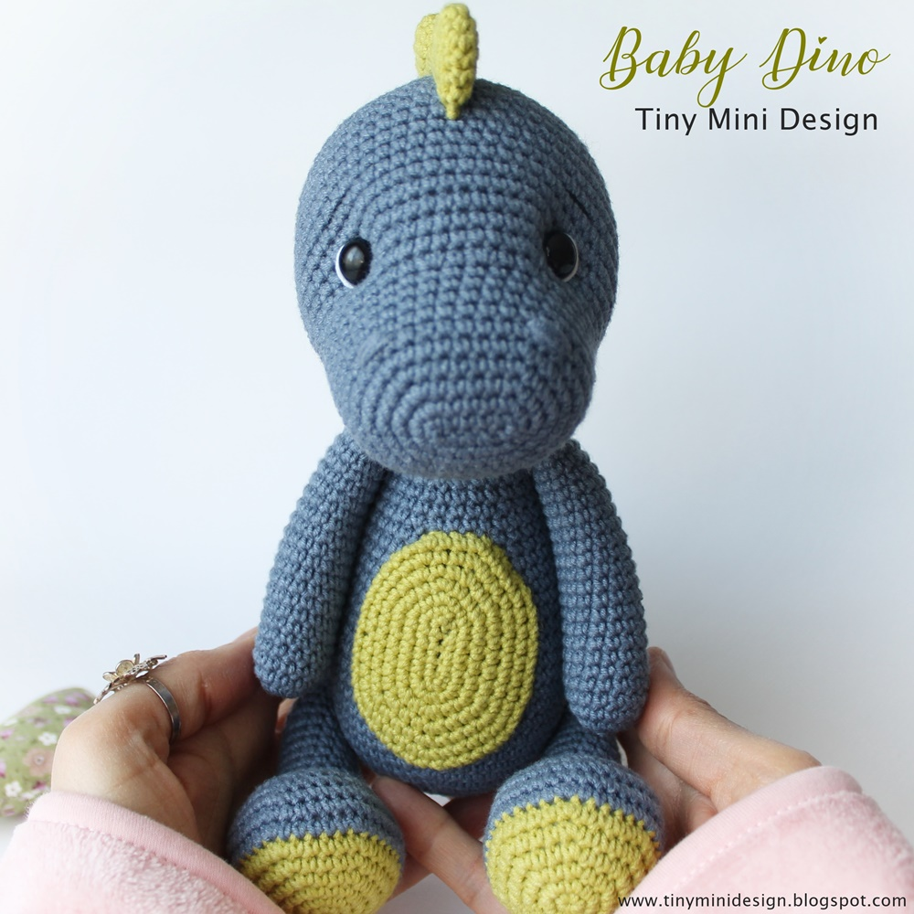 Amigurumi Baby Dinosaur Crochet Free Pattern - Crochet & Knitting | 1000x1000