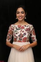 Ritu Varma smiling face Cream Anarkali dress at launch of OPPO New Selfie Camera F3 ~  Exclusive 037.JPG