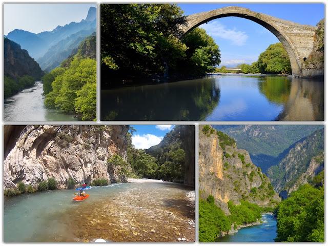 Ήπειρος: Αώος, ο ποταμός του καγιάκ
