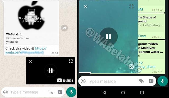 Fitur PiP WhatsApp Beta