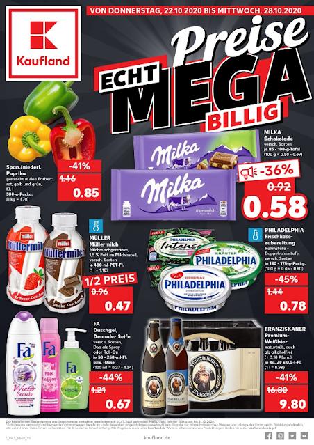 KAUFLAND  Prospekt - Angebote  ab 19.10 / ab 22.10 2020  → Preis MEGA BILLIG | Super-Wochenstart ab 19.10