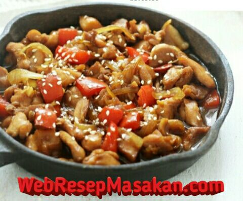 chicken teriyaki hokben, resep chicken teriyaki, cara membuat chicken teriyaki hokben,