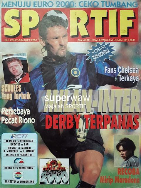 ROBERTO BAGGIO INTER MILAN 1999 MAGAZINE COVER