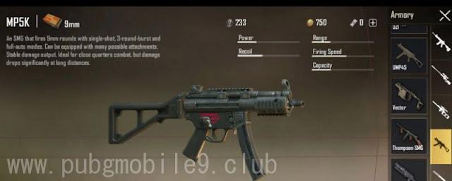 السلاح الجديد MP5-K