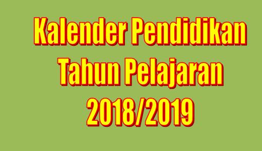Kaldik Madrasah Tahun Pelajaran 2017/2018