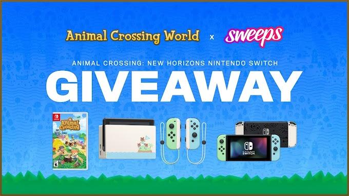 Sorteio de Um Nintendo Switch edição especial Animal Crossing: New Horizons