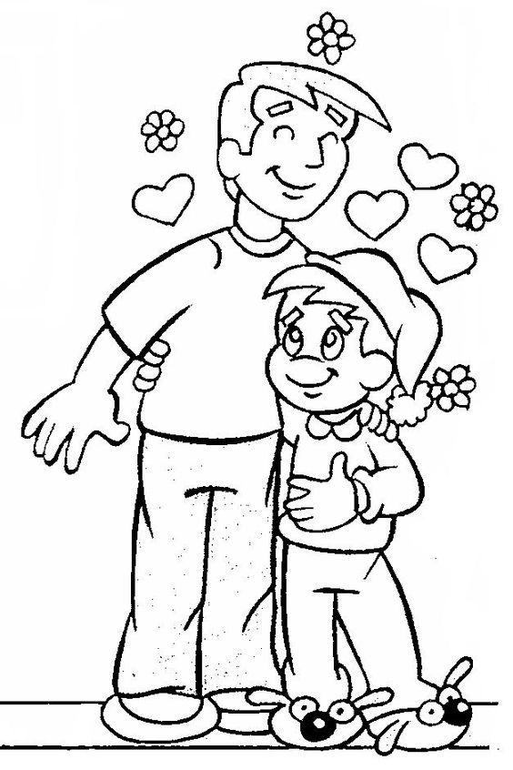 7 15 Atividades Dia dos pais para colorir