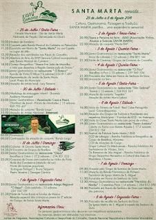 Programa Semana Cultural de Santa Marta de Penaguião 2016