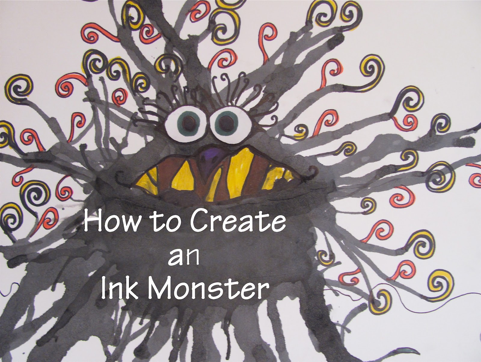 The Chocolate Muffin Tree How To Create An Ink Monster