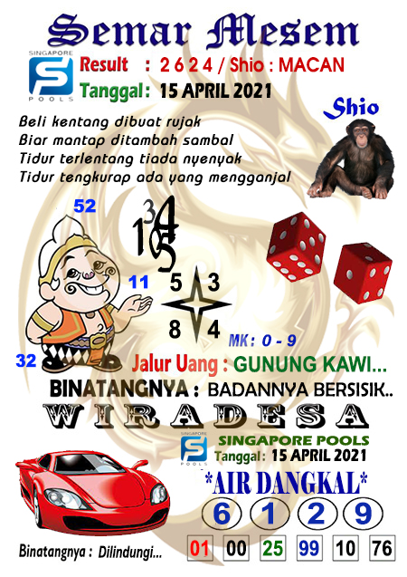 Syair Semar Mesem SGP Kamis 15-Apr-2021