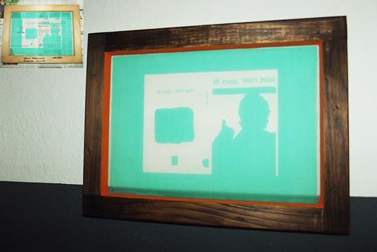 renovação de quadros, reciclagem, quadro, frame, faça você mesmo, diy, decoração, silk screen, tela silk