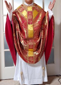 New Red Conical Chasuble from Paramentica
