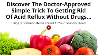 Canadian Seniors Savings created banner image - text reads: Discover the doctor-approved simple tricke to getting rid of acid reflux without drugs  using 3 common items found at your grocery store picture shows a variety of fresh frits and vegetables Banner opens in a new tab