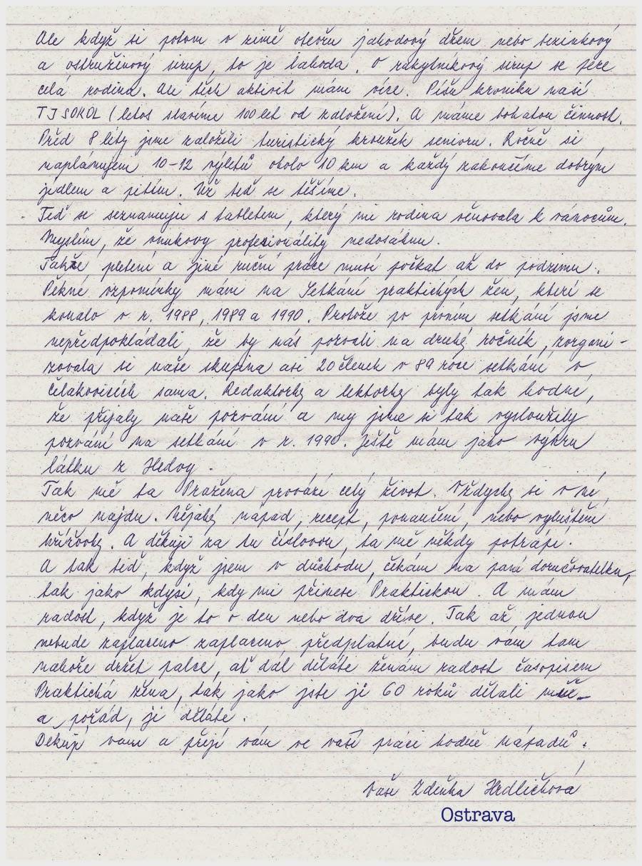 dopis k narozeninám BLOK ŠÉFREDAKTORA: Dopis čtenářky k narozeninám dopis k narozeninám