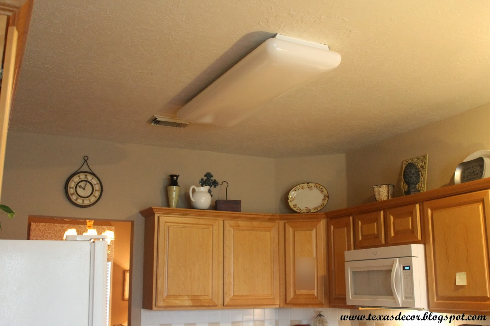 Replace Fluorescent Light Fixture In Kitchen Bobs Furniture Island Texas Decor A New