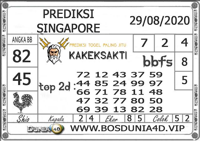 Prediksi Togel SINGAPORE DUNIA4D 29 AGUSTUS 2020