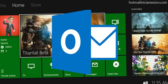 desde tu Xbox a Outlook.com