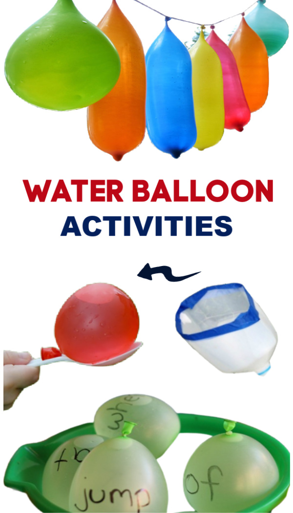 30+ fun and creative ways for kids to use water balloons! #waterballoons #waterballongames #wateractivitiesfortoddlers #growingajeweledrose #activitiesforkids
