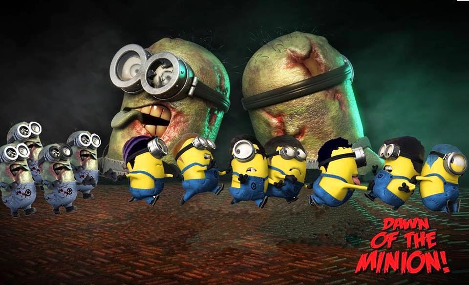 Gambar Minions Zombie Hitam Putih