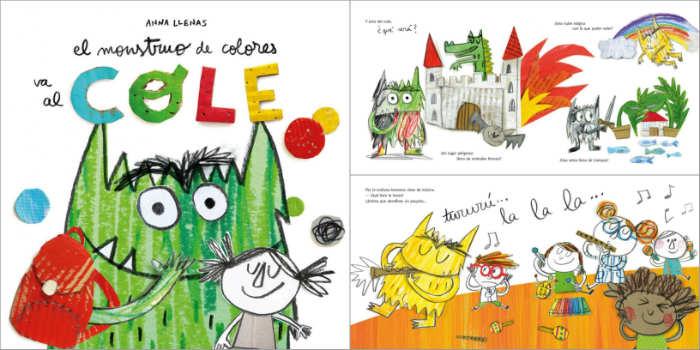 cuento infantil el monstruo de colores va al cole anna llenas, inicio colegio