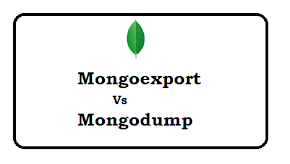 What is difference between Mongoexport and Mongodump