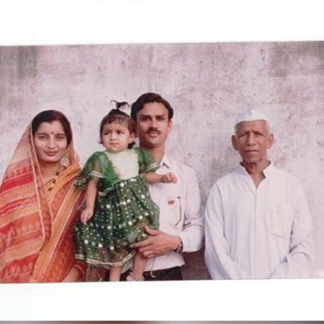 Anveshi Jain with family
