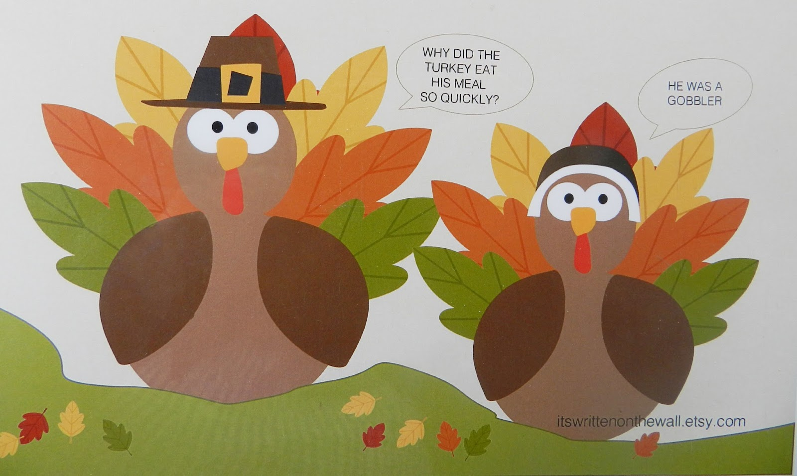 Thanksgiving Cookbook Cover ~ It s written on the wall thanksgiving coloring and game