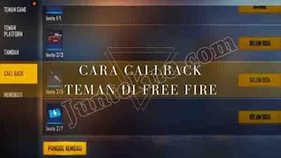 Cara Call Back Teman di Free Fire, Cara Call Back Teman Free Fire