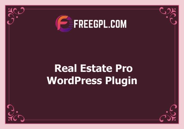 Real Estate Pro - WordPress Plugin Free Download
