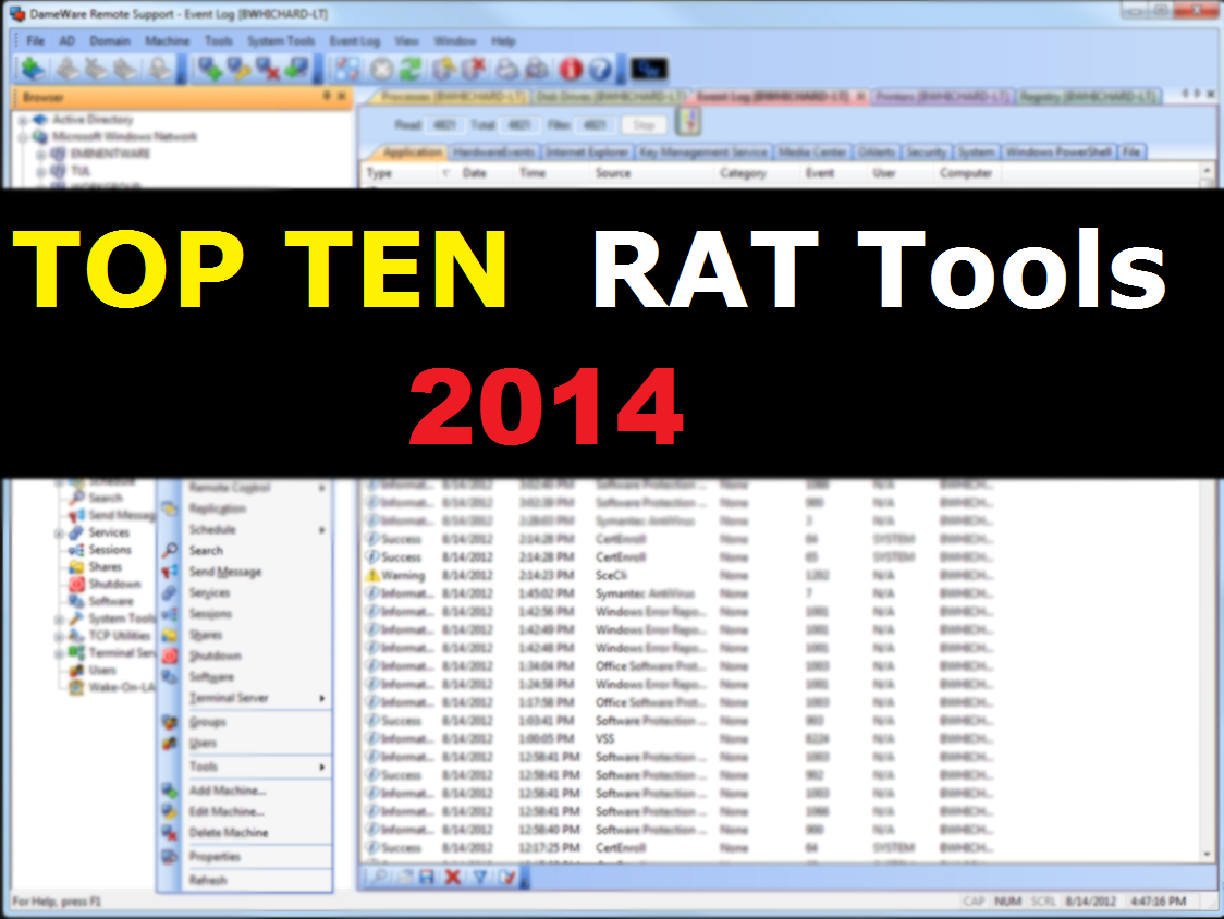 Top Ten (RAT) Remote Administration Tools - Security blog