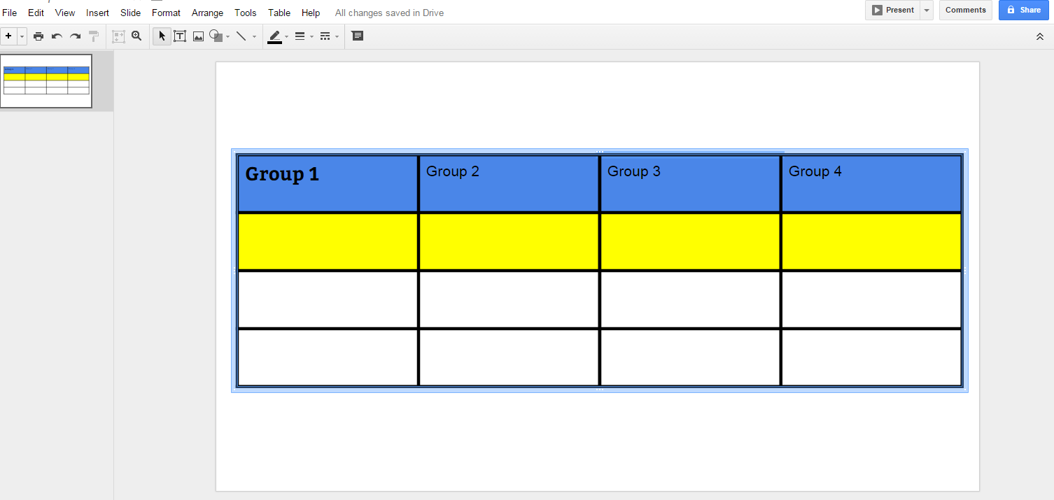 free technology for teachers how to create customize tables in