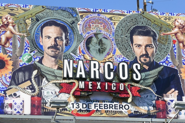Narcos Mexico 3D logo billboard