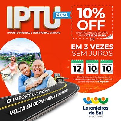 IPTU - Laranjeiras 2021 - Imposto que você Paga , volta em OBRAS !!