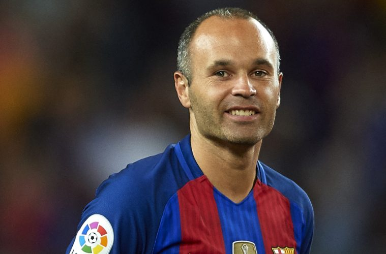 FourFourTwo trains with Andres Iniesta