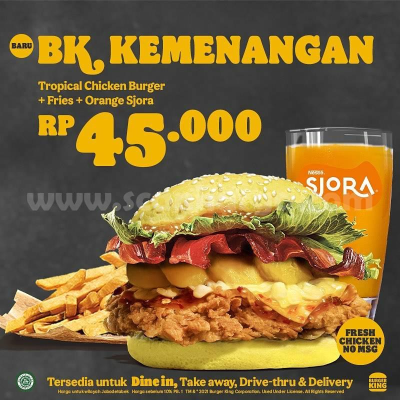 BARU! Burger King Promo Menu BK Kemenangan Tropical Delight harga mulai 45K