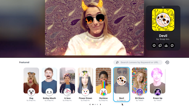 Snapchat brings the camera to your desktop to add filters to your videos