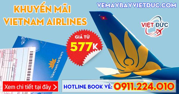 khuyến mãi nội địa Vietnam Airlines giá từ 577k