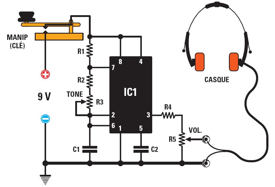 un oscillateur pour apprendre le morse