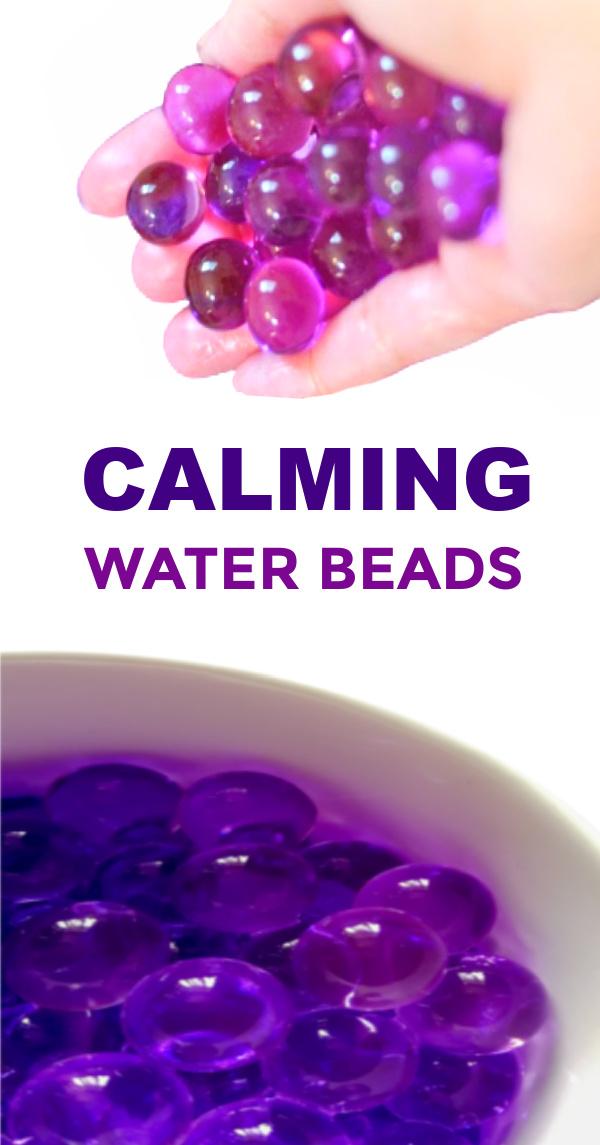 Help kids refocus their energy in positive ways with this easy water bead recipe for play! #waterbeads #waterbeadsactivitiesforkids #lavenderrecipes #lavenderwaterbeads #growingajeweledrose #activitiesforkids
