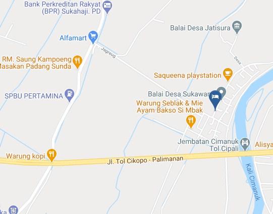 Map Letak Resepsionis Hotel Sukawana Travel Hub Majalengka