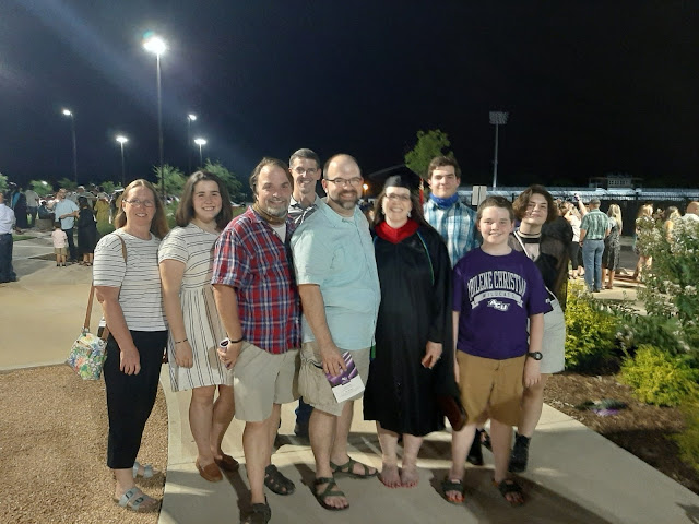 All my family and friends that drove to Abilene to celebrate with me!