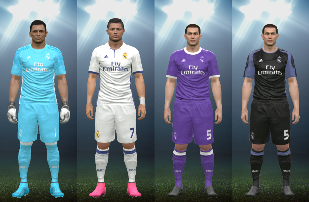 Wepes Sport  Uniforme Real Madrid - Pes 2017 (PC PS3) b64c60b679188