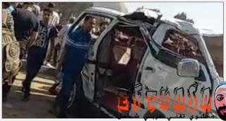 اخبار الحوادث, اخبار عاجلة, اخبار مصرية, حادث البدرشين, حادث تصادم, كاميرة مراقبة