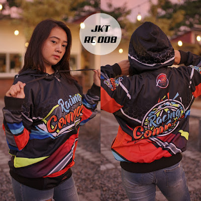 008 Jaket Racing Custome Nama Murah