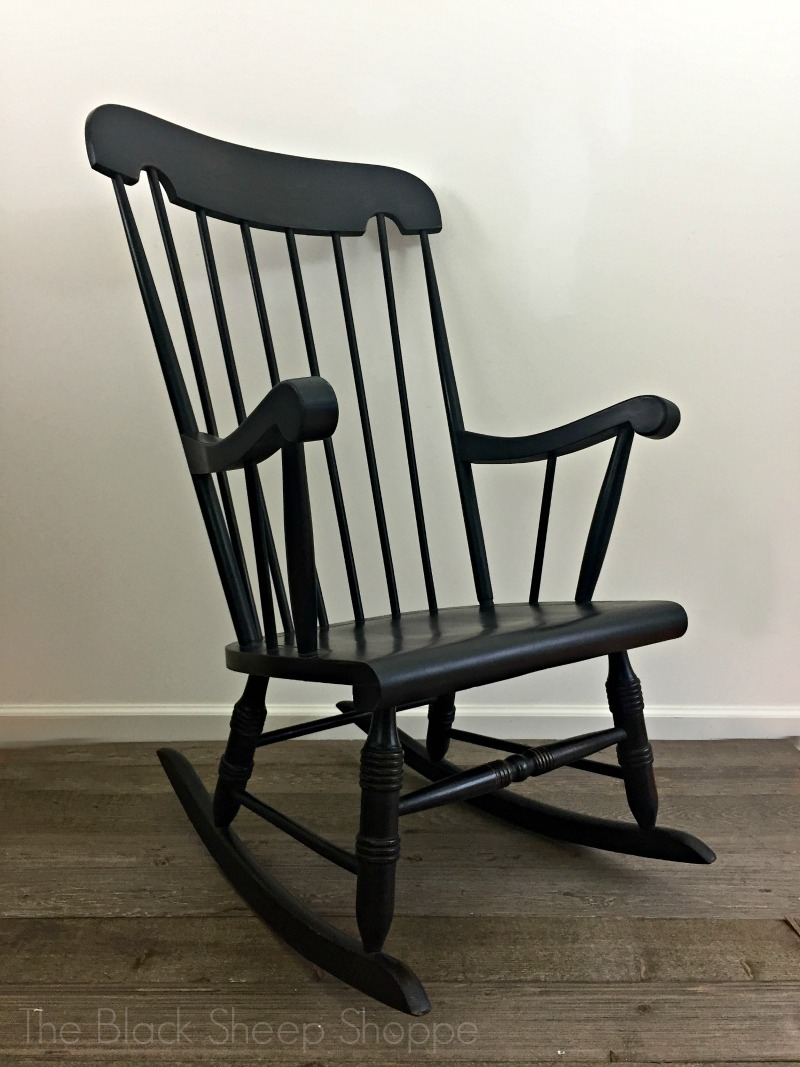 Rocking chair painted in a timeless finish