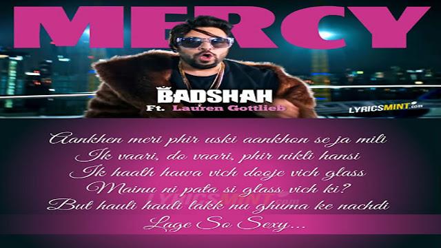 Badshah New Song Mercy Lyrics| Lauren Gottlieb | Sony Music India
