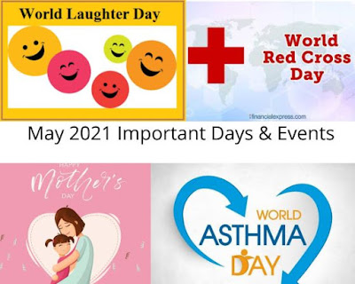 May 2021 List of Important Days & Events
